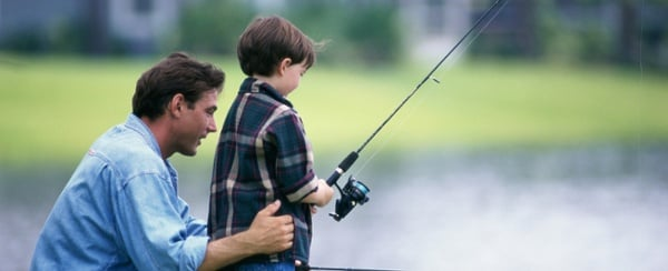 Gone Fishin', but not too far  - check out our catch and release pond, a benefit of living in Richmond, TX