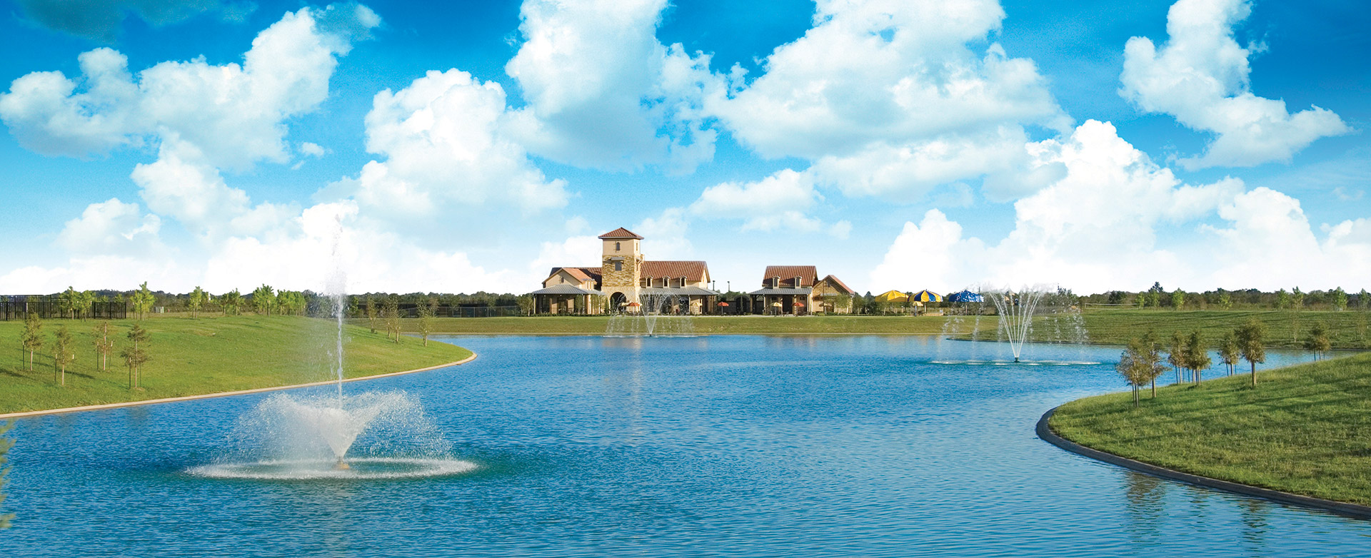 Estate Pond in new home commiunity in Richmond, TX