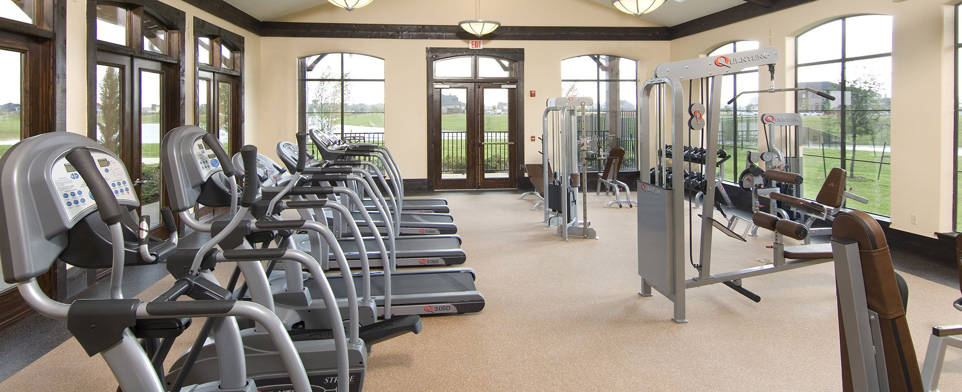Luxury amenities and fitness room await you at Bella Terra