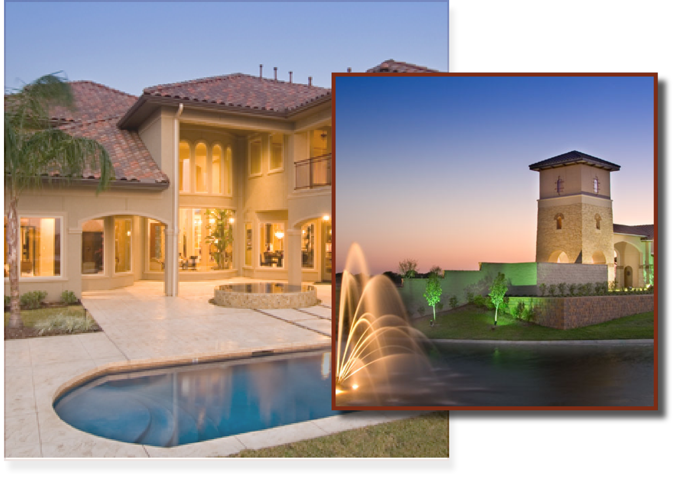 Custom homes and family resort style living at Bella Terra Lakes
